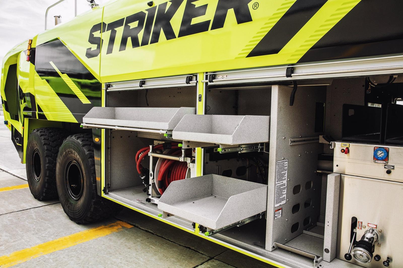 Oshkosh ARFF Striker Storage
