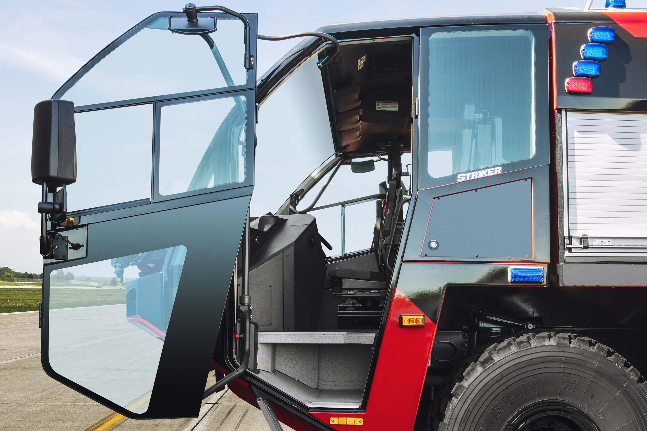 Oshkosh ARFF Striker Bus Style Doors