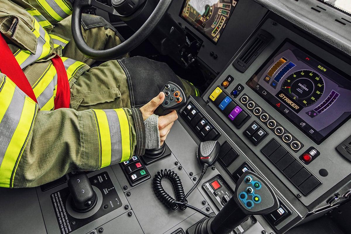 Oshkosh ARFF Striker Cab Firefighter