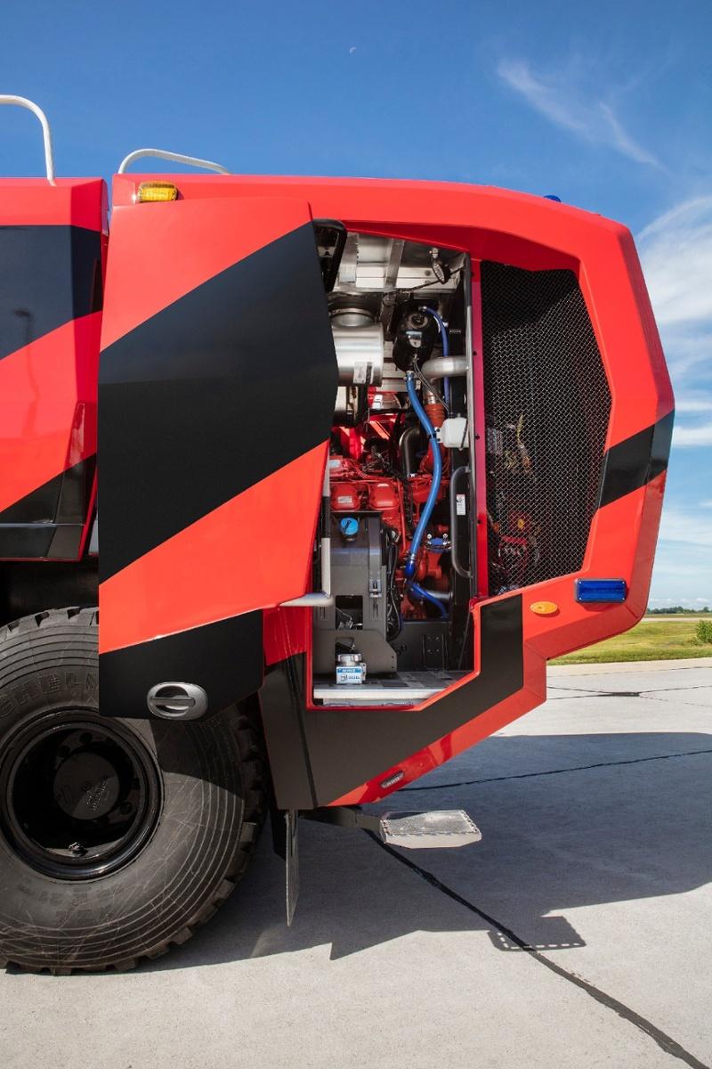 Oshkosh ARFF Striker Engine Compartment