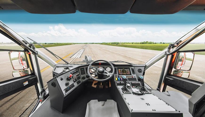 Oshkosh Striker Cab Visibility View