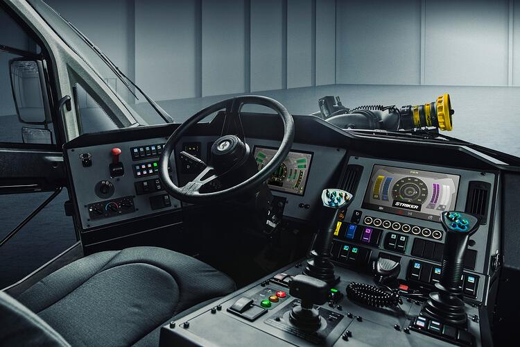 Oshkosh ARFF Striker Interior Cab