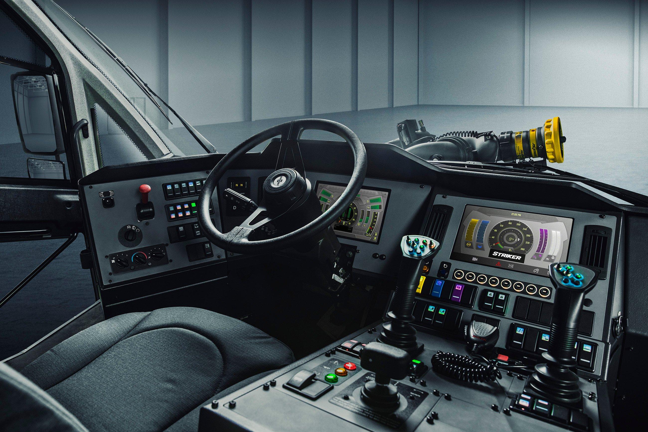 Oshkosh ARFF Striker Interior Cab