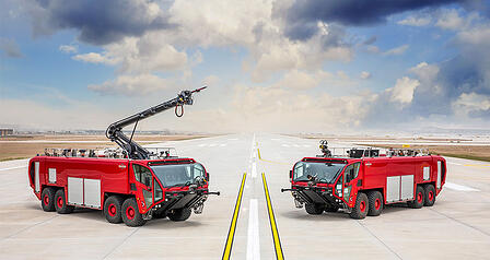 Oshkosh Airport Products Striker 8x8 reaches 50 mph in less than 20 seconds