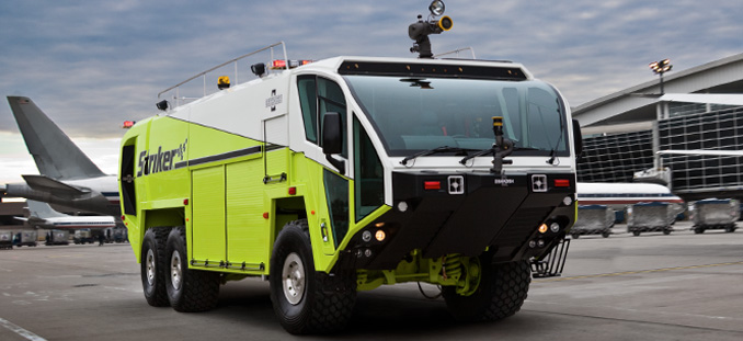 Pair of Oshkosh Striker Vehicles on Duty at San Francisco ...