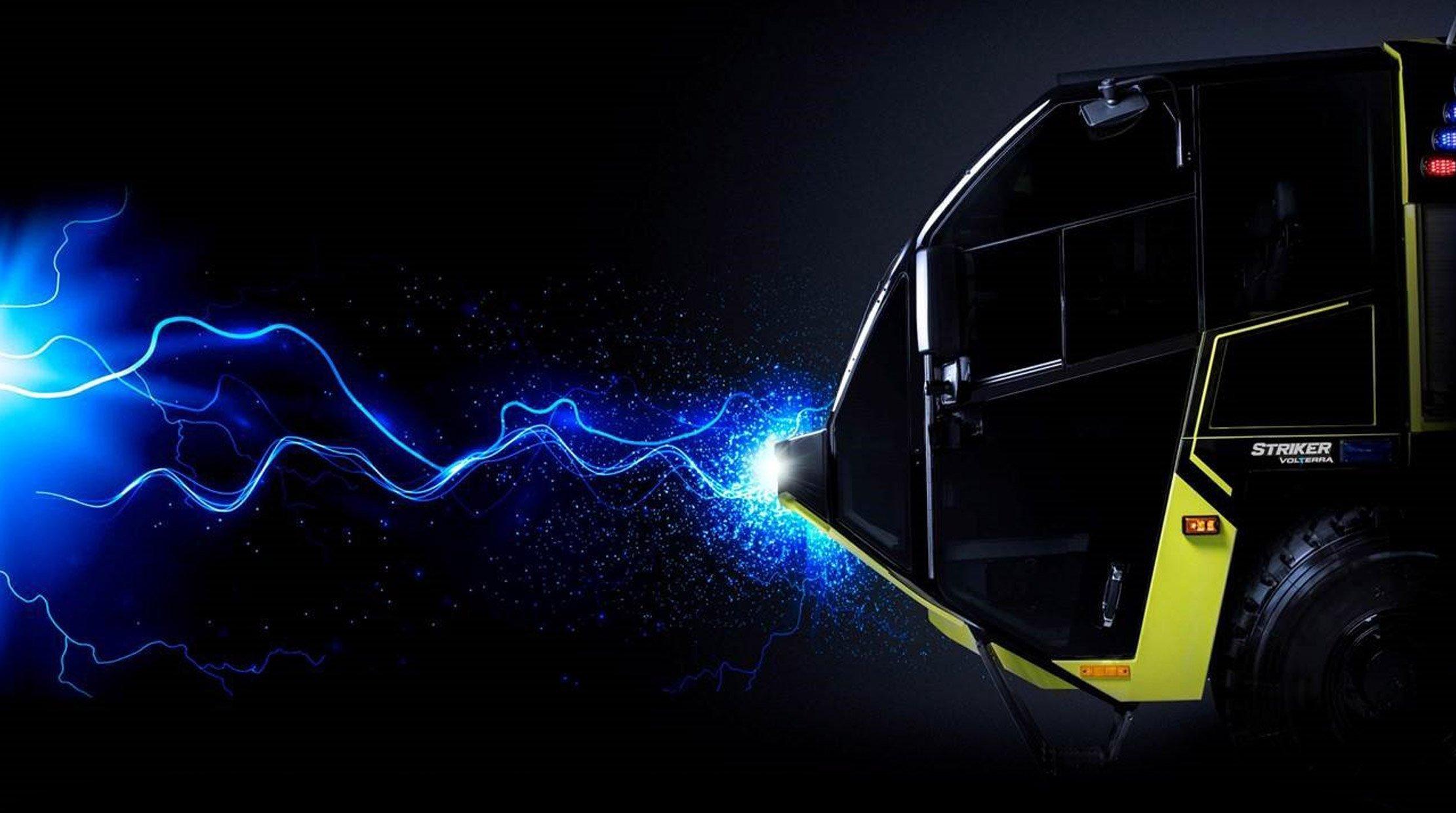 Oshkosh ARFF Striker Volterra Electric Hybrid